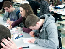 WSHS students 'Draw On!' to create art together cameron-vivenzio-alysa-cas.jpg