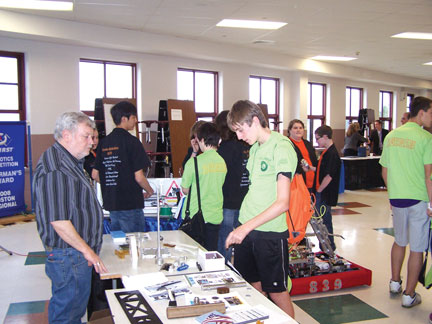 Agawam High students explore work world at annual Expo expo-tables_1.jpg